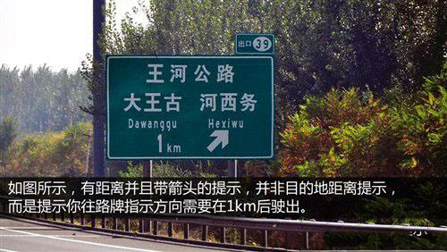 认识高速上的指示牌